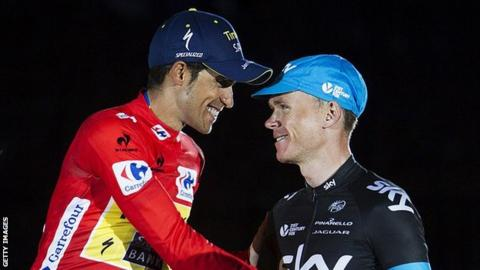 Alberto Contador and Chris Froome