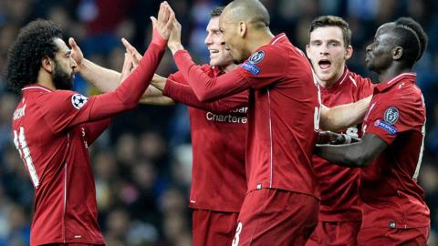 Liverpool team celebrate