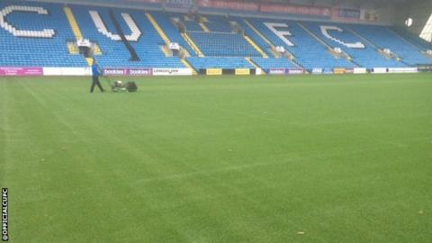 Carlisle United have cleared their pitch of water