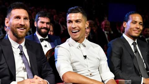 Lionel Messi, Cristiano Ronaldo Virgil van Dijk