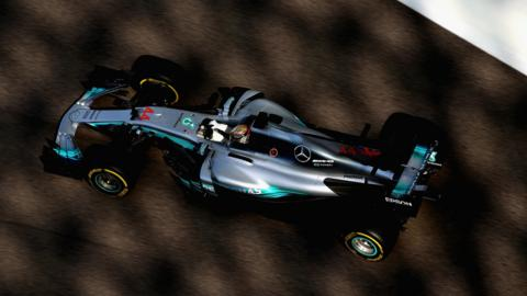 Lewis Hamilton in action at the Abu Dhabi Grand Prix