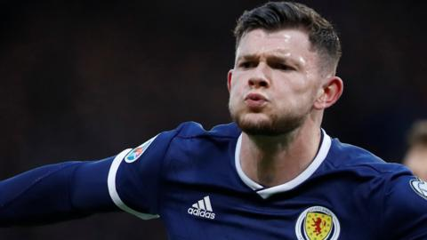Oliver Burke scored his first goal for Scotland in this summer's win over Cyprus