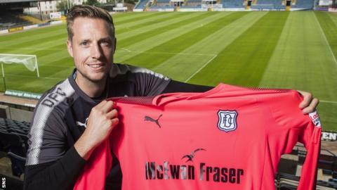 Dundee goalkeeper Elliot Parish