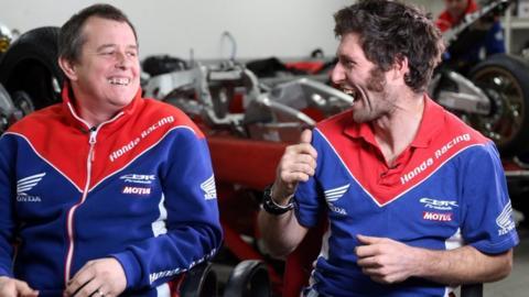 John McGuinness and Guy Martin