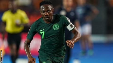 Nigeria captain Ahmed Musa