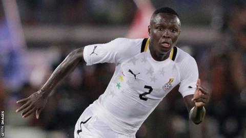 Ghana defender Samuel Inkoom