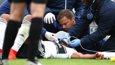 Denis Odoi receives treatment on the pitch