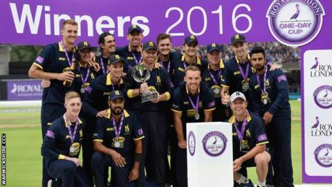 The highlight of Warwickshire's 2016 season was winning the One-Day Cup at Lord's against Surrey