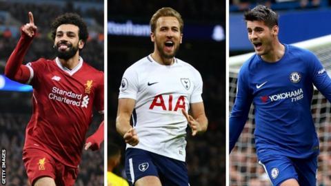 Mohamed Salah, Harry Kane and Alvaro Morata