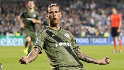 Aleksandar Prijovic scored Legia Warsaw's second goal with virtually the last kick of the game