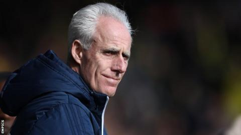 Mick McCarthy watches his Ipswich Town side