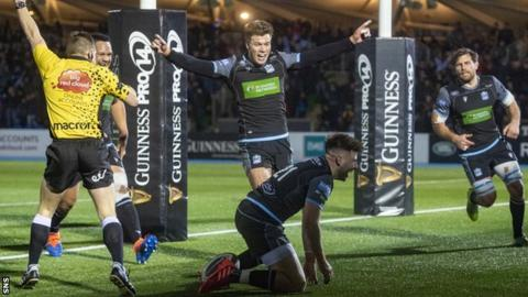Ali Price's second-half try helped Glasgow to victory