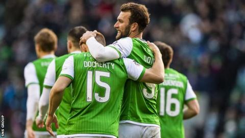 Hibernian are currently sixth in the Premiership, five points off third place