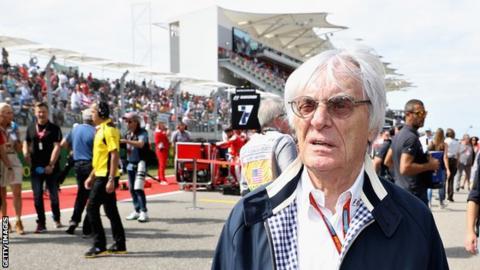 Bernie Ecclestone at the 2016 US Grand Prix