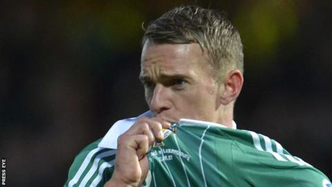 Dean Shiels scored his only Northern Ireland goal in a World Cup qualifier against Luxembourg in September 2012