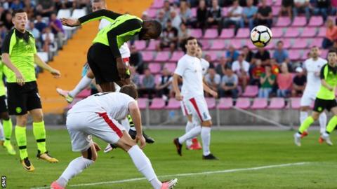 Olivier Ntcham heads Celtic ahead