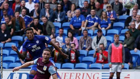 Nathaniel Mendez-Laing fires in Cardiff City's third goal