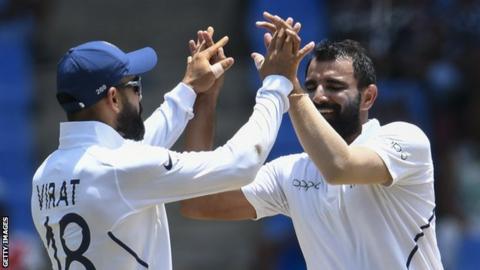 India captain Virat Kohli and bowler Mohammed Shami