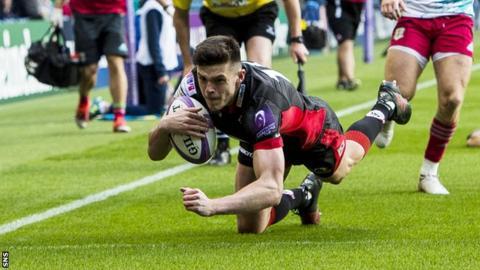 Blair Kinghorn scores for Edinburgh