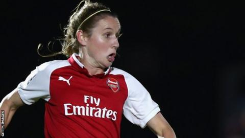 Heather O'Reilly in action for Arsenal Women