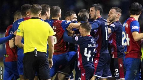 Inverness Caley Thistle & Ross County fined after Scottish Cup brawl
