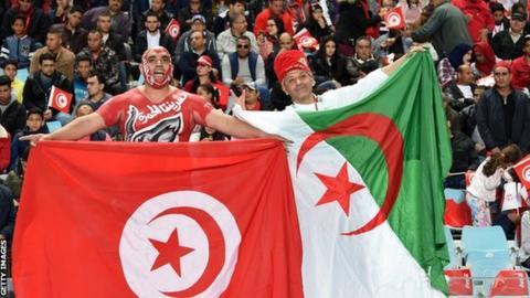 Fans of Tunisia and Algeria