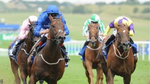 Harry Angel wins the July Cup at Newmarket