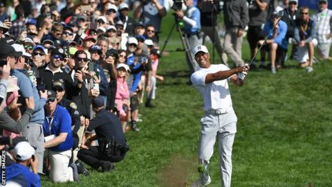 Tiger Woods during his third round at the Farmers Insurance Open