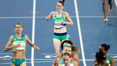 Ciara Mageean crosses the line well short of a top-six place needed to ensure qualification for the final