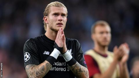 Former Liverpool keeper Loris Karius looks upset after defeat by Real Madrid in the 2018 Champions League final
