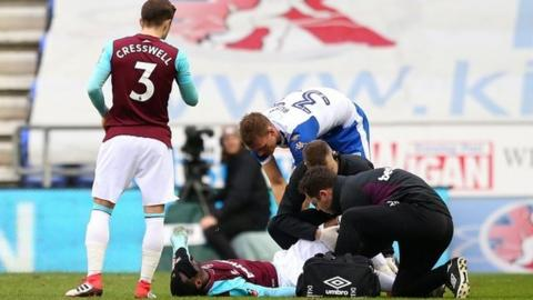 Pedro Obiang was injured in the 2-0 FA Cup loss at Wigan