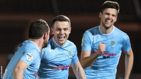 Ballymena United beat Glenavon 4-3