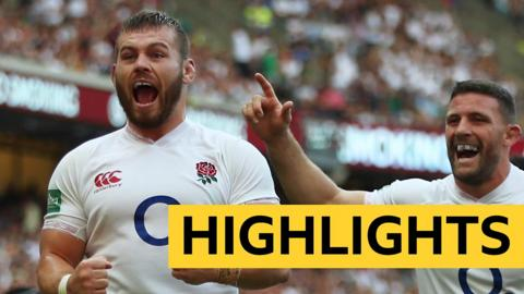 All the tries in two minutes as England run riot against Ireland