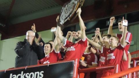 St Brelade win 2017 Trinity Shield