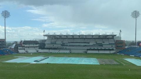 Heavy shower at tea on the final day at Headingley saw the game end early