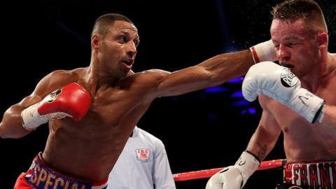 IBF world welterweight champion Kell Brook beating Frankie Gavin