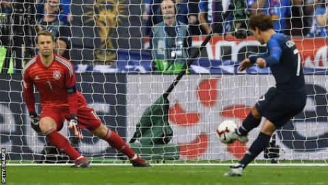 Griezmann brace helps France to comeback win over struggling Germany