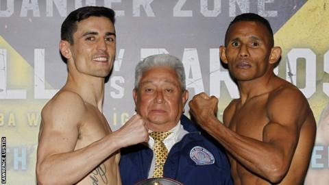Crolla and Barroso at the weigh-in