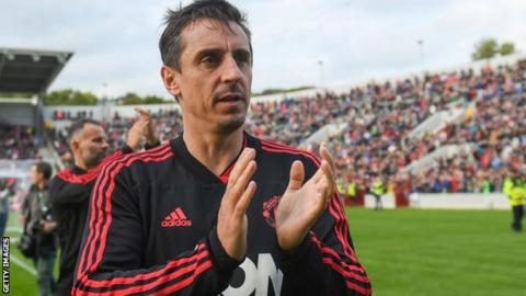Gary Neville retired as a Manchester United player in 2011