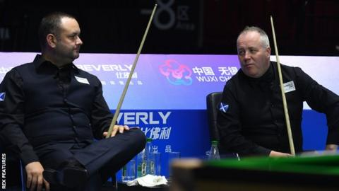 Scotland's Stephen Maguire and John Higgins