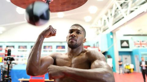Anthony Joshua in training