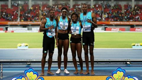 Bahamas mixed relay team