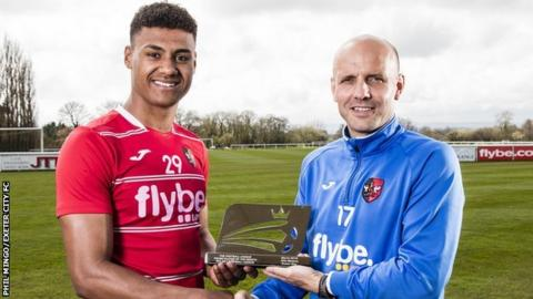 Ollie Watkins (left) and Paul Tisdale