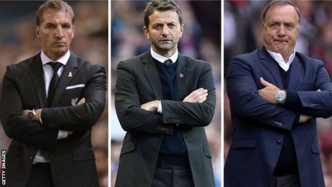 Brendan Rodgers, Tim Sherwood and Dick Advocaat