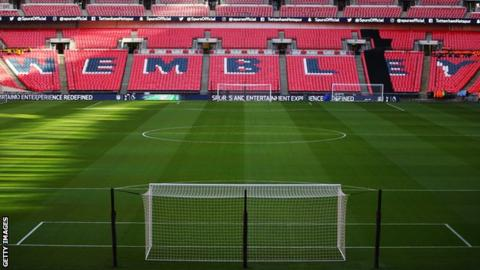 A picture of the inside of Wembley Stadium