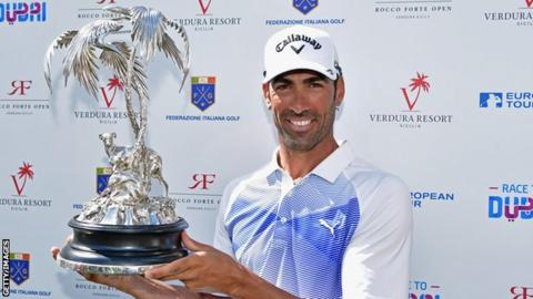 Alvaro Quiros recovered from a disappointing finish to win a play-off