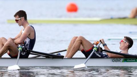Richard Chambers and his GB team-mate Will Fletcher
