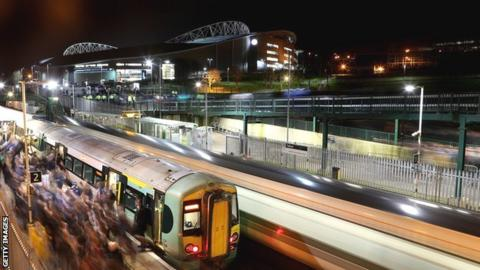 Falmer Station and the Amex Stadium