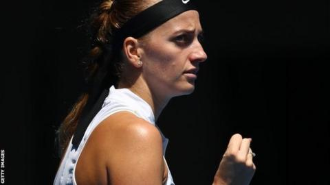 Kvitova makes Open semis, puts attack behind her