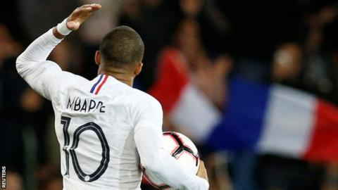France forward Kylian Mbappe